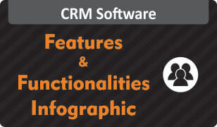 Infographic on features & functionalities of crm